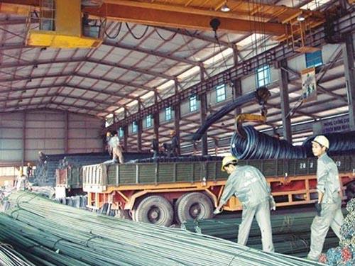 kho sắt thép xây dựng