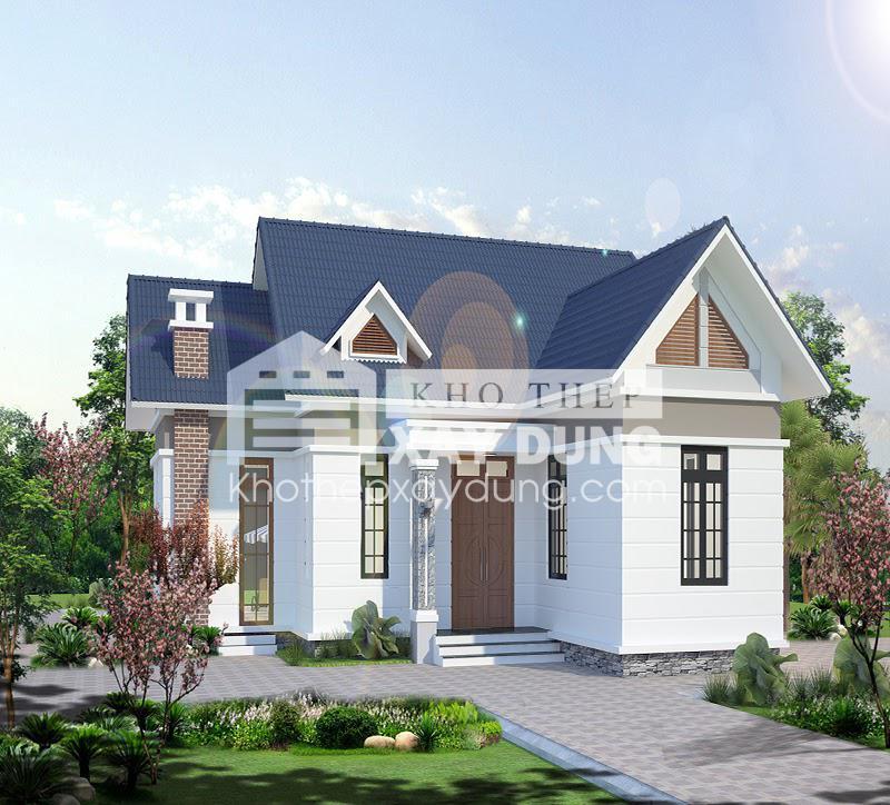 Thiết kế nhà cấp 4 mái thái ở nông thôn