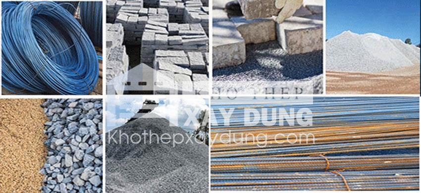 Các loại vật liệu xây dựng phổ biến trên thị trường