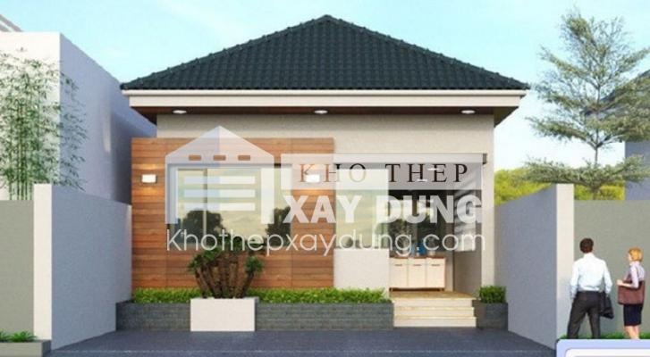 Bản vẽ thiết kế nhà một tầng đơn giản